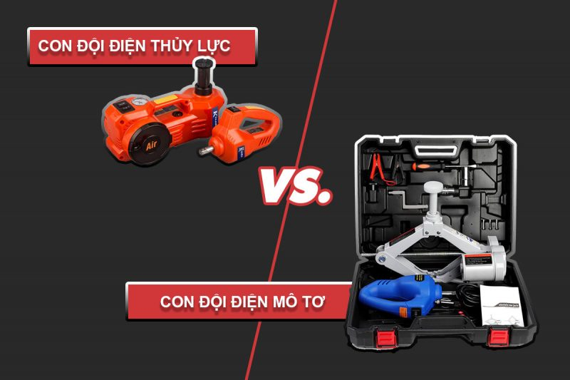 so sánh con đội điện mô tơ với con đội điện thủy lực
