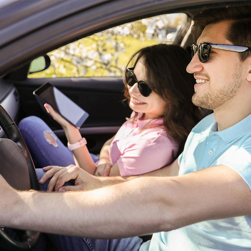 Vị trí tốt nhất là bên cạnh tài xế