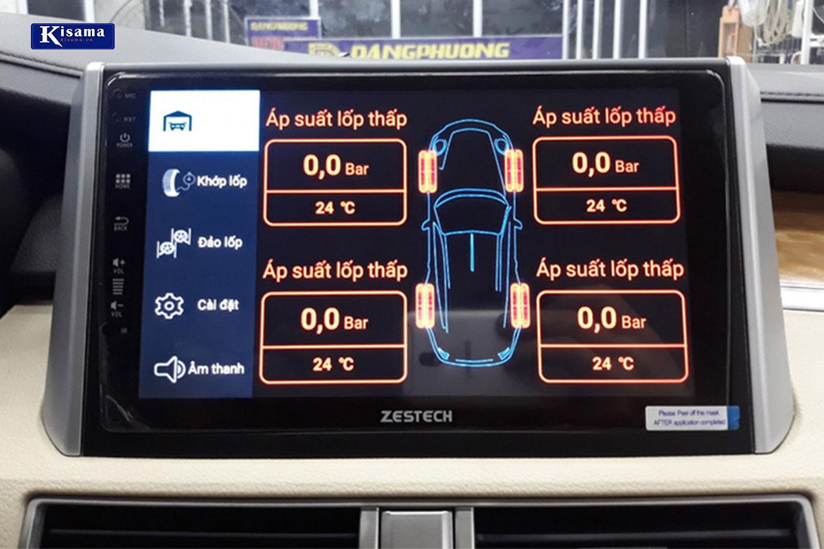 màn hình hiển thị cảm biến áp suất lốp