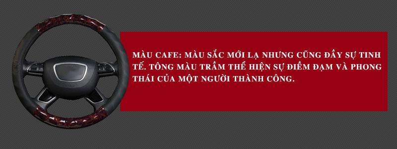 bọc vô lăng cafe